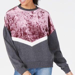 Freshman Velvet Chevron Sweatshirt size XL